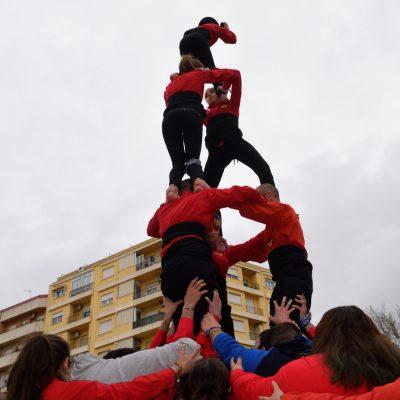Muixeranga de Xàtiva en l'homenatge a les víctimes del bombardeig