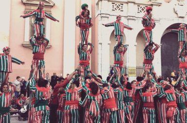 actuació de la Nova Muixeranga a Vilanova i la Geltrú