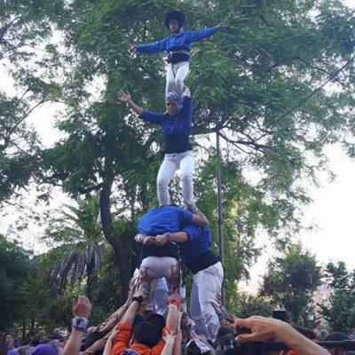 Torreta sense desplegar - Muixeranga d'Alacant